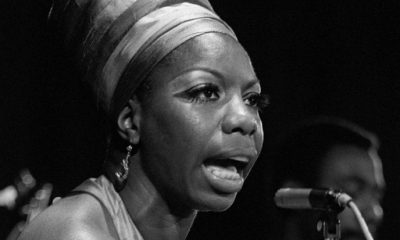 Nina Simone performing on stage