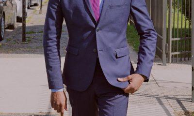 black man in suit