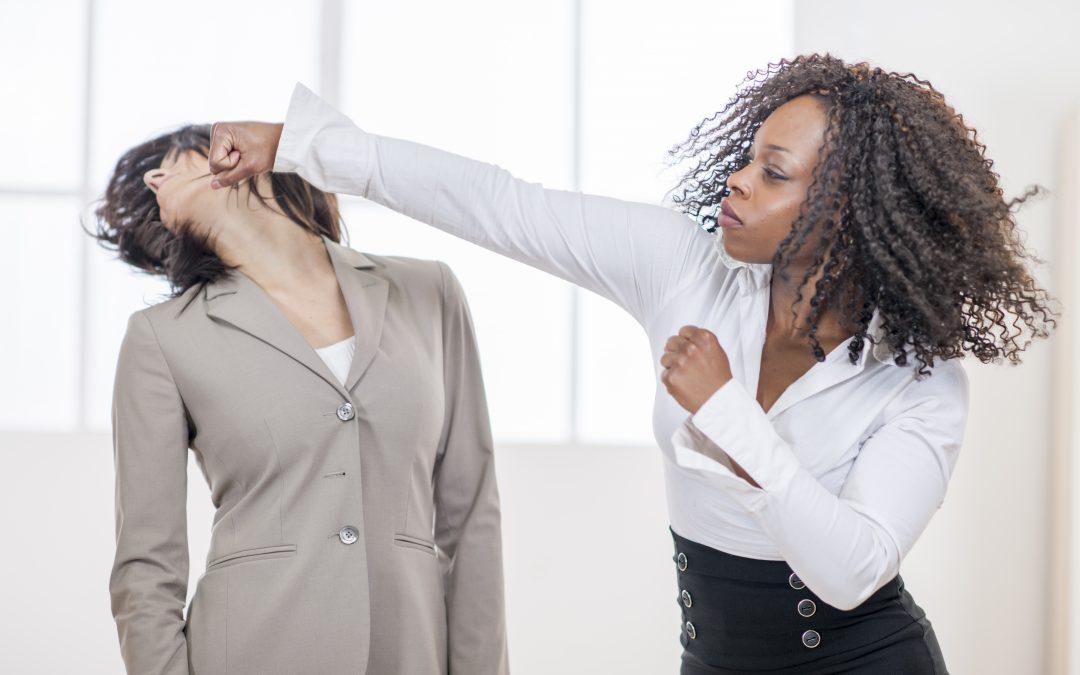 black woman punch
